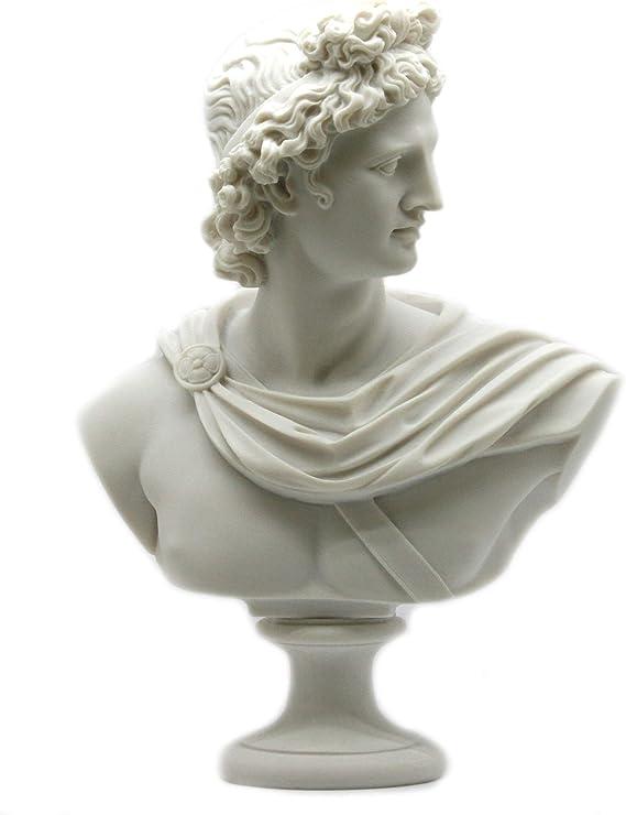 Apollo – busto de griega o romana dios cabeza Estatua