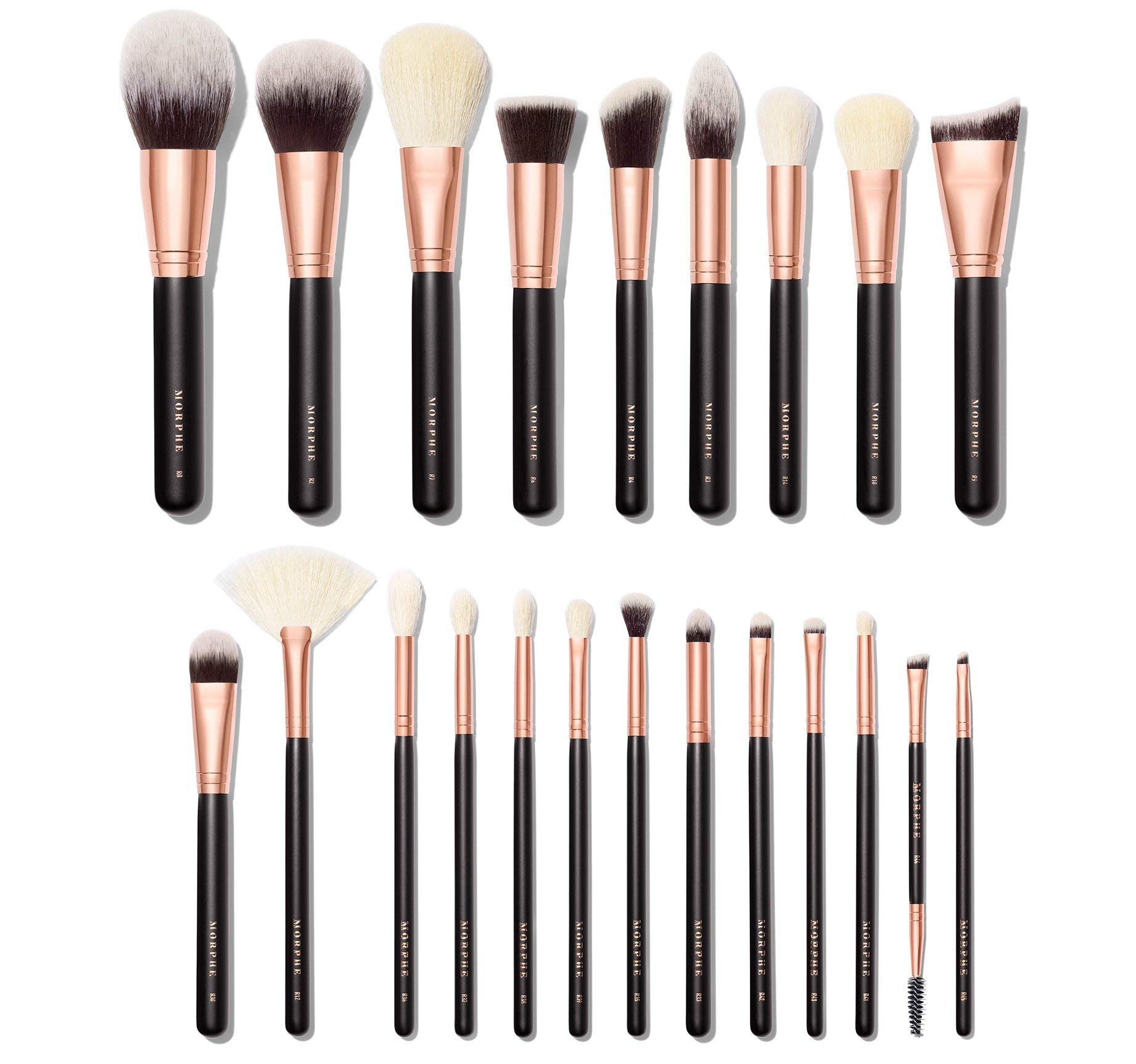Authentic Morphe Stroke of Luxe 22 Pc Rose Gold Brush Collection