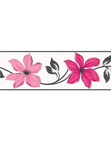 Fine Decor Lily - Cenefa para pared (173 mm), color rosa