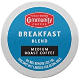 Community Coffee Breakfast Blend 36 Count Coffee Pods, Medium Roast, Compatible with Keurig 2.0 K-Cup Brewers, Box of 36 Pods