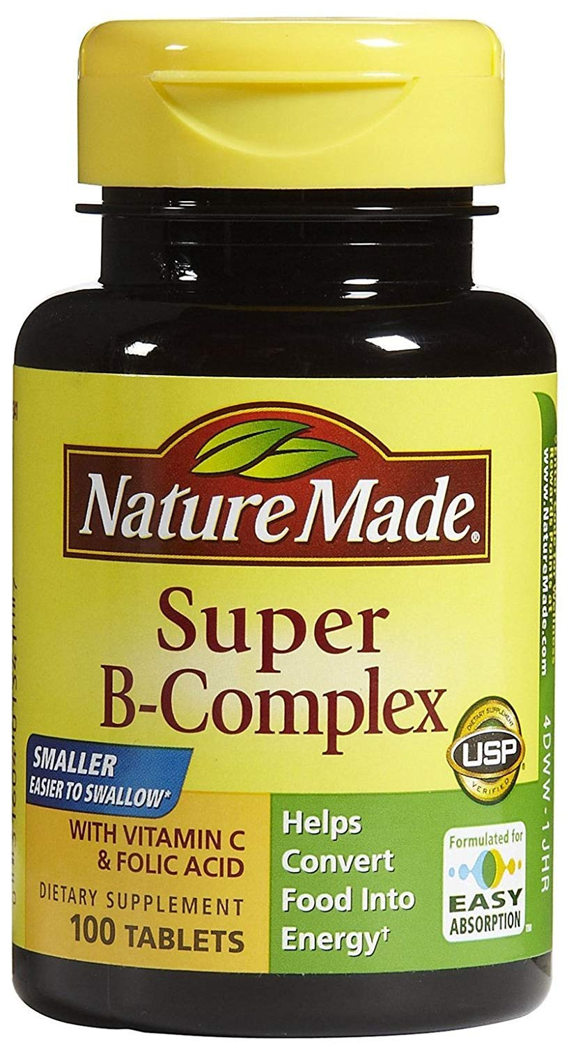 Nature Made Super Vitamin B-Complex Tabs, 100 ct