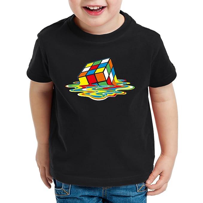 3863d5a0d3d0 style3 Sheldon Cubo Magico T-Shirt per Bambini e Ragazzi  Amazon.it   Abbigliamento