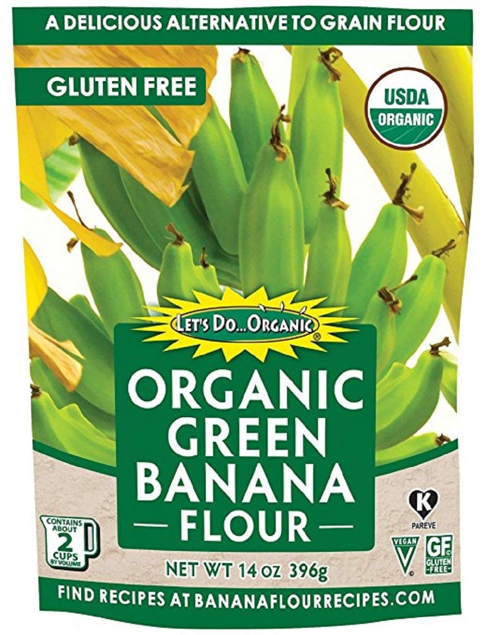 Let's Do Organic Green Banana Flour, 2 Count by Let's Do Organic