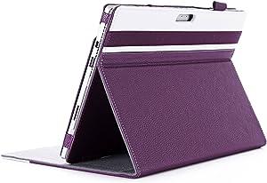 ProCase Surface Pro 7 / Pro 6 / Pro 2017 / Pro 4 / Pro LTE/Pro 3 Case - Folio Cover Case for Microsoft Surface Pro 6 / Pro 2017 / Pro 4 / Pro LTE/Pro 3, Compatible with Type Cover Keyboard –Purple