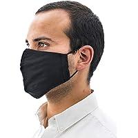 Paquete de 5 Cubrebocas Helsa Mask (Adulto), 5 capas, color negro, reutilizable, ecologico, tela SMS, tecnología alemana, Segunda Generación