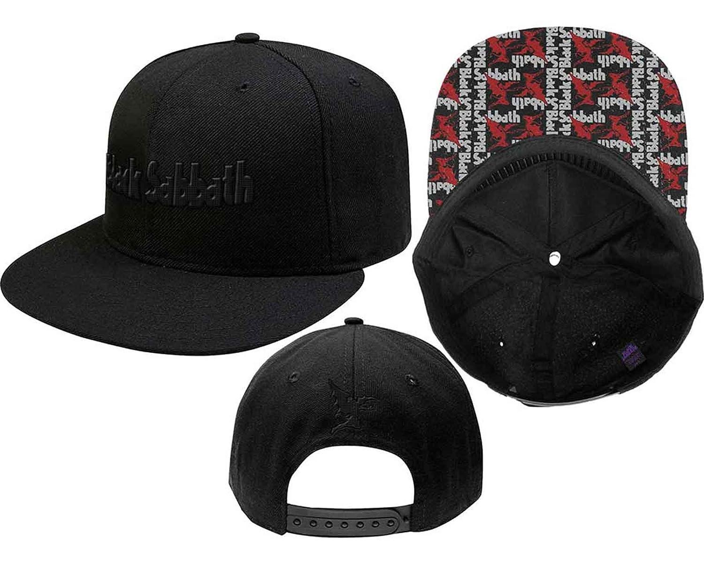 Black Sabbath Baseball Cap Band Logo & Demon Official Black Snapback Black Sabbath Merch