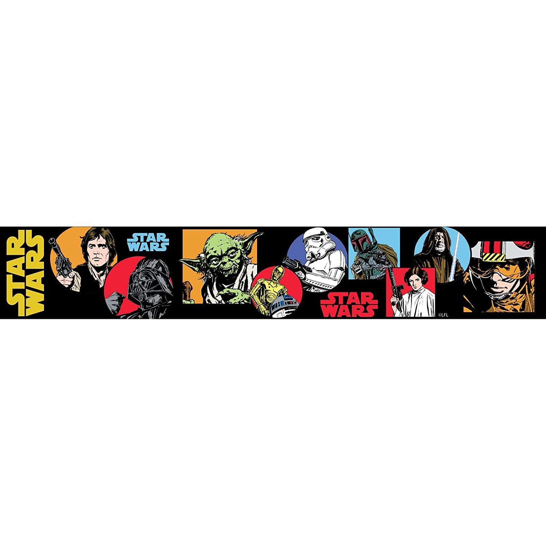 Star Wars Cartoon frontiè re auto adhé sif Wallpaper 5m Consalnet