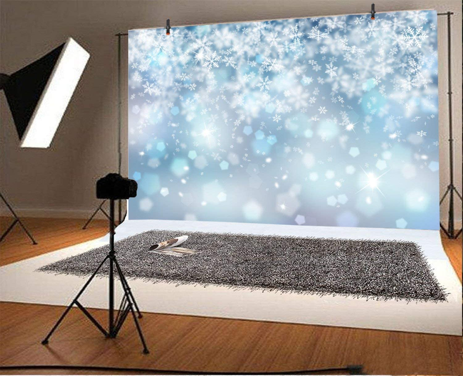 10x8ft Fantasy Earth Backdrop Mysterious Universe Celestial Nature Snow Mountains Planet Landscape Photo Background Photo Studio Props