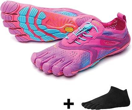 Vibram Fivefingers Bikila EVO 2 Women/V de Run – Set – Running Dedos Zapatos/Bar Soporte con Gratis Calcetines de Cinco Dedos, Purple/Blue, 37 EU: Amazon.es: Deportes y aire libre
