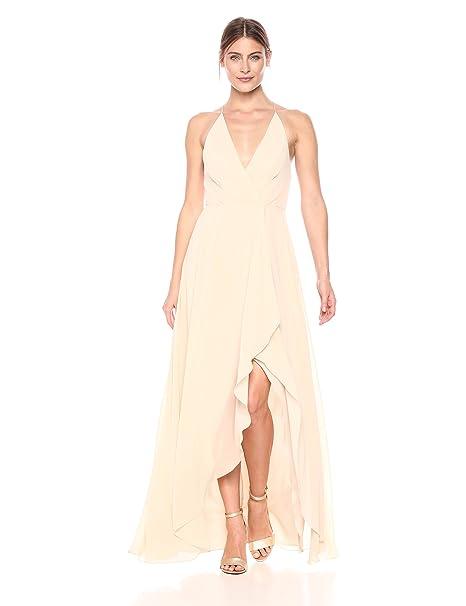 6a44c6d06 Jenny Yoo Womens Farrah Halter Faux Wrap Chiffon Dress Special Occasion  Dress: Amazon.ca: Clothing & Accessories