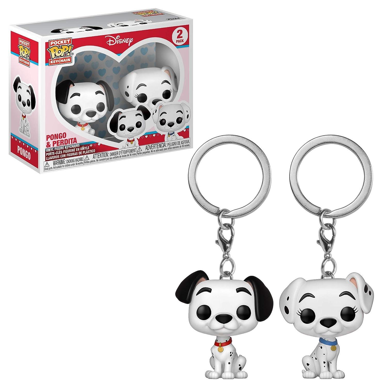 Funko Pop! Keychain: 101 Dalmations - Pongo & Perdita 2 Pack Toy, Multicolor