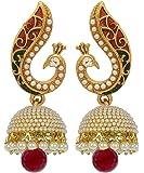 YouBella Jewellery Gold Plated Pearl Fancy Party Wear Jhumka / Jhumki Earrings for Women Traditional Earrings for Girls
