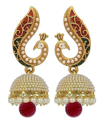 Image result for fancy earrings wearing women