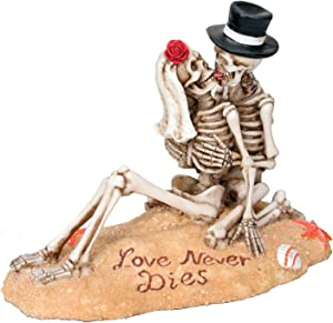 SUMMIT COLLECTION Beach Lovers - Love Never Dies Collectible Skeleton Themed Figurine