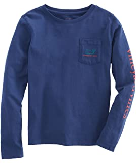 ff4b4534c Vineyard Vines Women's Long Sleeve Pocket Signature Graphic T-Shirt ...