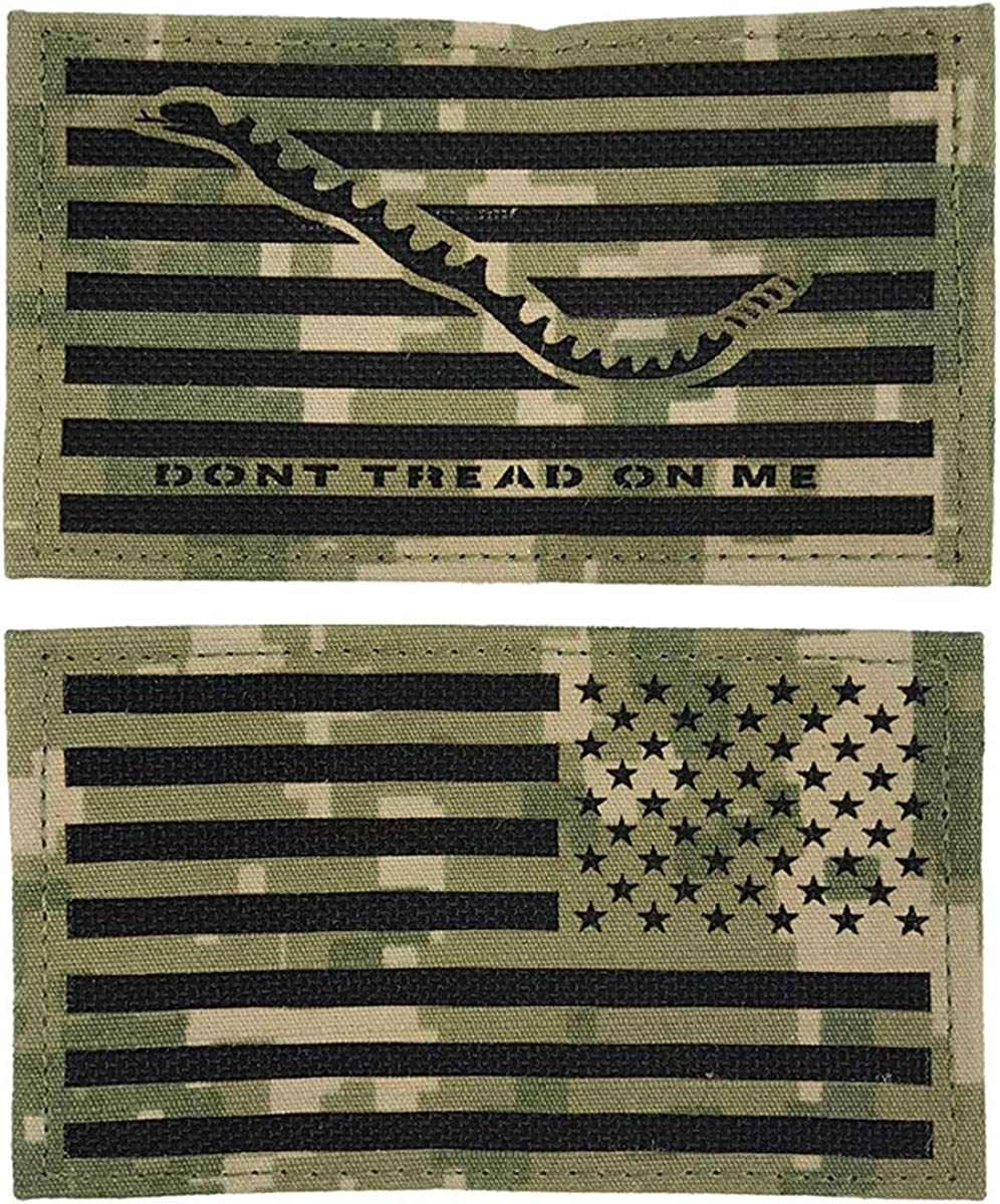US Navy NWU Type III Laser Cut Dont Tread On Me Patch with Reverse Flag