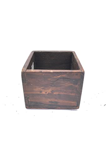 Amazon Com Sds Home Imports Rustic Reclaimed Wood Planter Box For