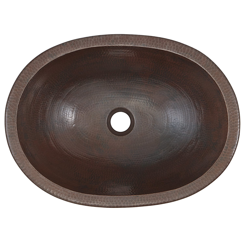 copper bathroom sinks. sinkology sb202-19ag wallace dual mount handmade pure solid bathroom sink, 19\ copper sinks