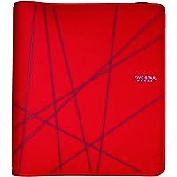 Five Star Zipper Binder, 1.5-Inch Capacity, 13.62 x 12.12 x 2.38 Inches, Red (72356)