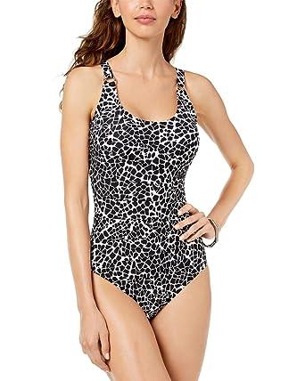 addc550d3a40f Calvin Klein Women's Starburst One-Piece Swimsuit at Amazon Women's ...