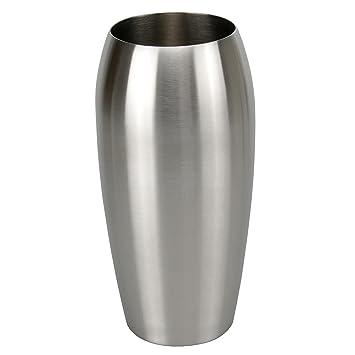 Bella Casa Blumenvase Vaso Ovale Oval 11 5 X 25 Cm Gross Silber