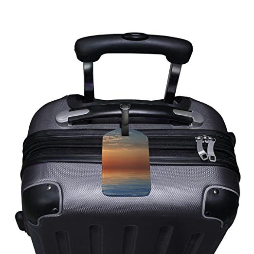 COOSUN Sunset Etiquetas de Equipaje de Viaje Etiquetas Titular Nombre de la Etiqueta Tarjeta para Equipaje Maleta Bolsa Mochilas, 2 PCS Metro: Amazon.es: ...