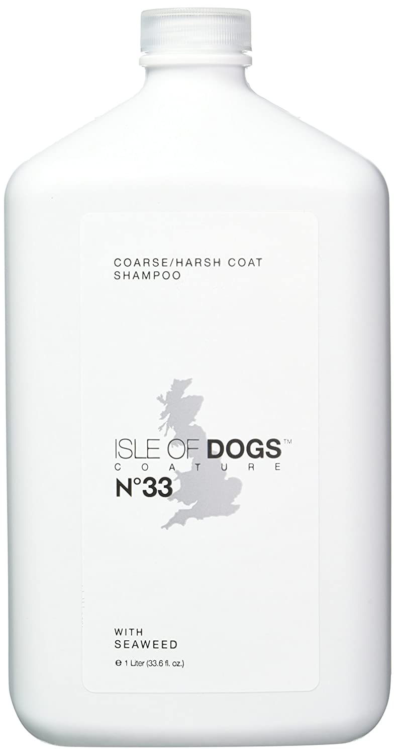 1-Liter Isle of Dogs Coature No. 33 Coarse Coat Dog Shampoo for Wire or Crisp Coats, 1-Liter