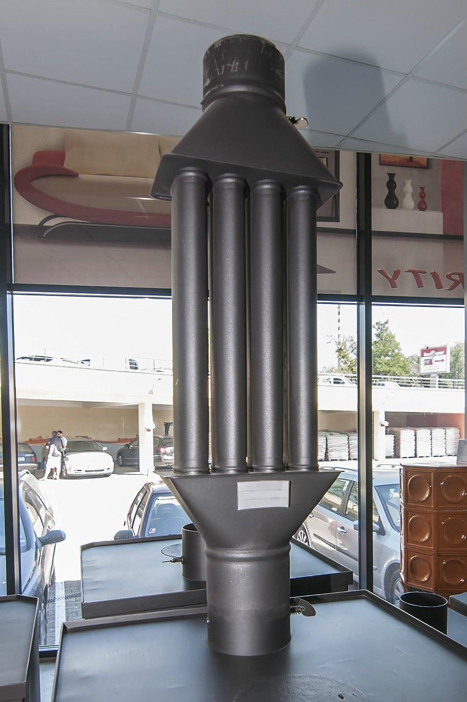 Chimenea estufa para madera, Radiador Heatexchanger por válvula 4 tubos XL: Amazon.es: Hogar