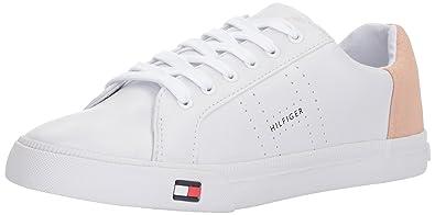 0a5f505ebf8aa Tommy Hilfiger Women s Lune Sneaker White Blush 9.5 Medium US