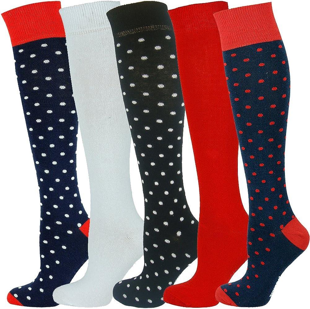 Mysocks/® Calze unisex alte al ginocchio con cotone pettinato extra fine multi conception