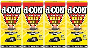d-CON Reusable Covered Mouse Snap Trap, 1 Trap (Pack of 4)