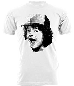 Camiseta Stranger Things - Dustin - Serie TV, Bianco, Donna ...