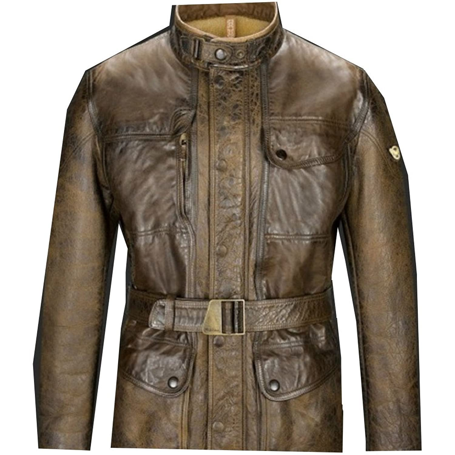 The Avengers: Age of Ultron Nick Fury Matchless Antique Brown Genuine Leather Jacket - DeluxeAdultCostumes.com