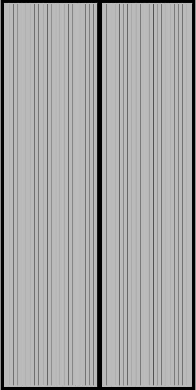 COAOC Mosquitera MagnéTica, con Malla Super Fina para para Puertas Correderas/Balcones/Terraza - Black 110x230cm(43x91inch)