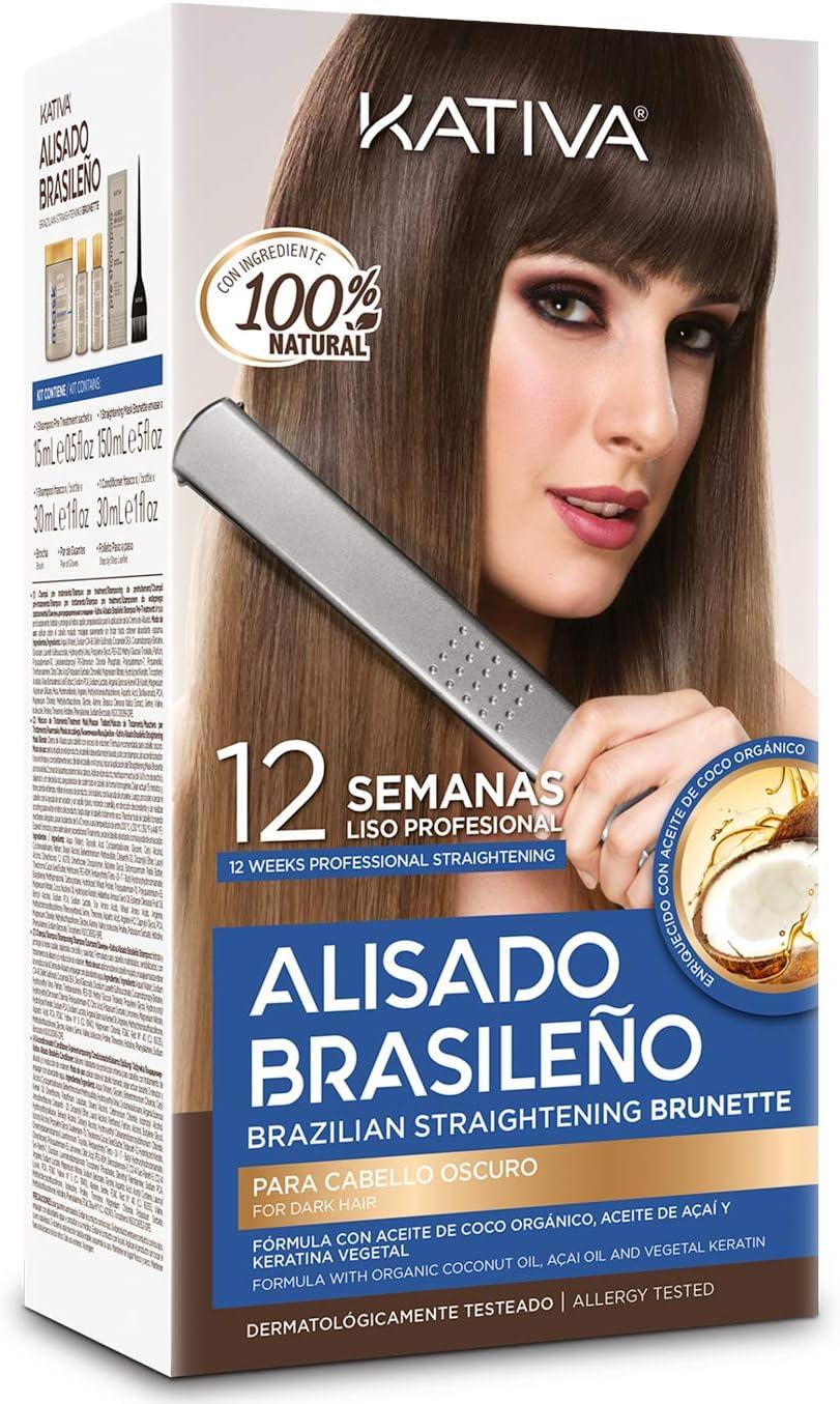 Kativa Kativa Alisado Brasileno Cabello Oscuro Lote 6 Pz 200 g