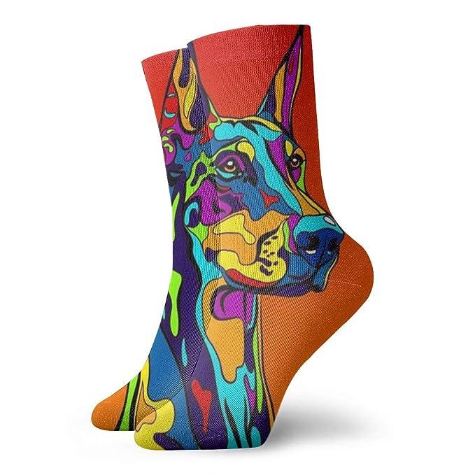 b9977662599ff Light Venus Doberman Pinscher Mens Printed Funny Novelty Casual Crew Dress  Socks For Womens/Unisex at Amazon Women's Clothing store: