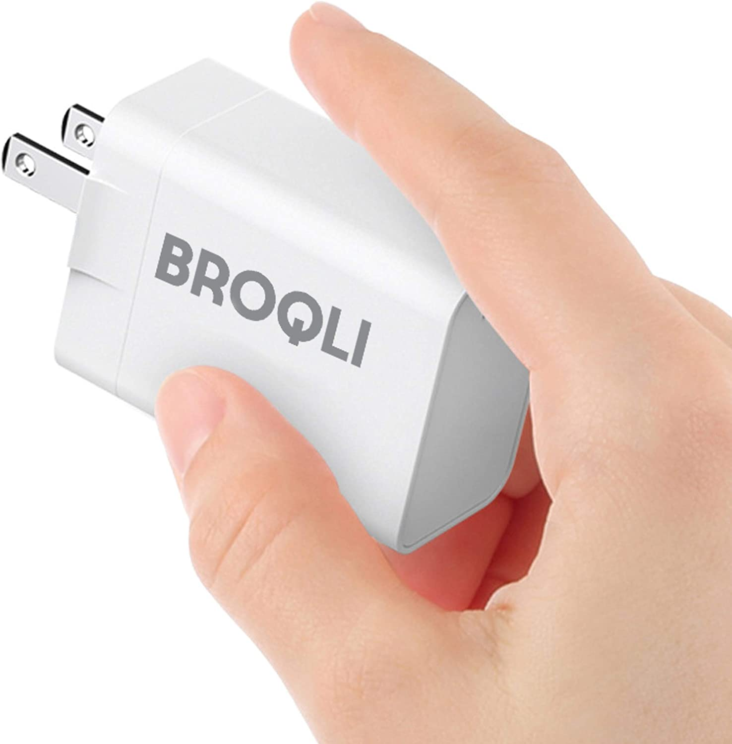 BROQLI USB Type C Wall Charger Portable Adapter with EU Plug, 30W Power Delivery 3.0 for MacBook Pro/Air 2018, iPad Pro 2018/mini, iPhone XS/Max/XR/X/8/7/Plus, Galaxy Note10/S10/S9, Pixel 3 XL (White)