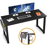 "Cubiker Computer Desk 55"" Modern Sturdy Office Desk Large Writing Study Table for Home Office with Extra Strong Legs, Black"