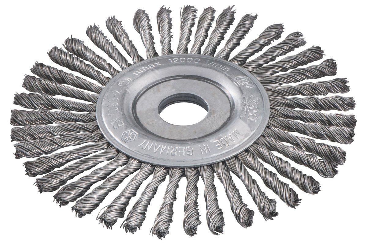 Metabo 626816000 Steel-Wire Wheel Brush, 0 V, Green, 150 x 0.5 x 6/22.23 m 150 x 0.5 x 6/22.23m