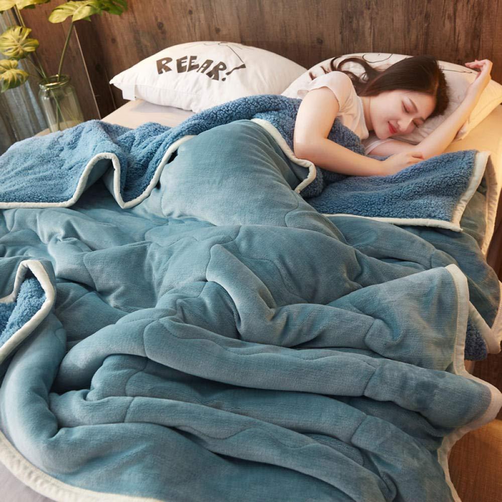 RESUXI Jette des couvertures,/Épaisse Couverture en Molleton Corail Trois couches-100 150cm/_E