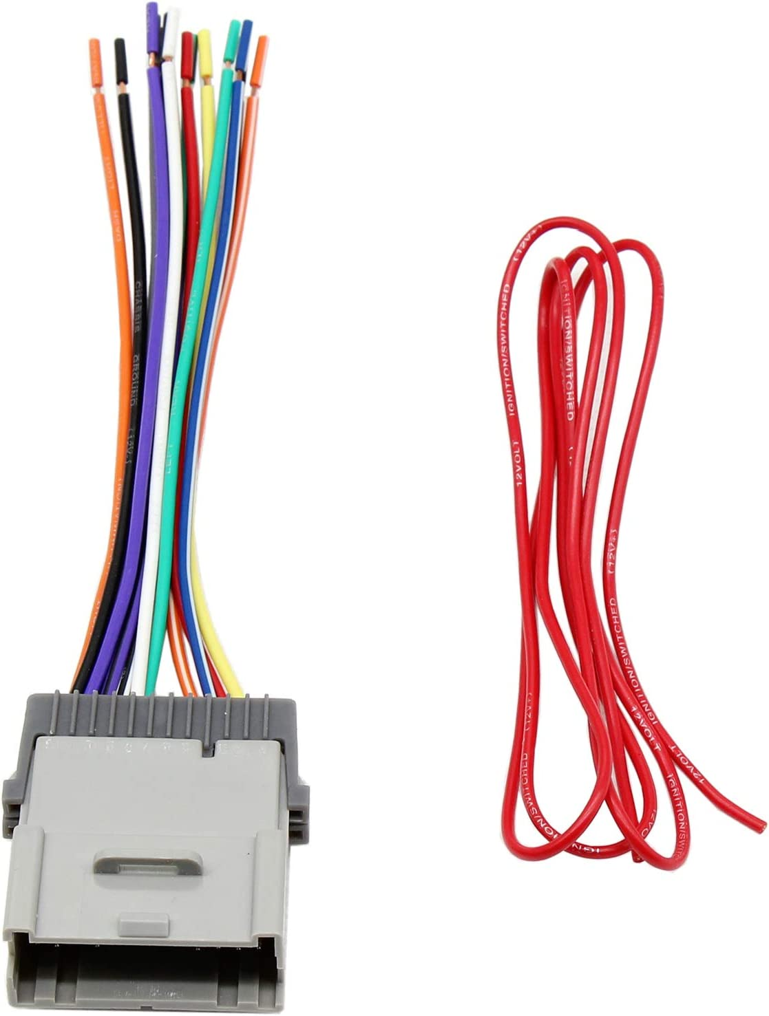 Amazon.com: RED WOLF Stereo Radio Wiring Harness Connector Replacement for  Select GM Chevy GMC 2000-2012 Model: Car Electronics | 2012 Chevy Suburban Wiring |  | Amazon.com