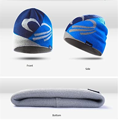 Lovtour Winter Knit Beanie Sports Hat Warm Knit Outdoors Cap Unisex Hiking  Bicycling Running Cycling Camping Fitness Woolen Knit Hat (Blue) at Amazon  Men s ... 35f244ca73df