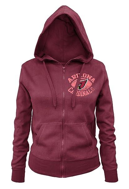 Amazon.com : NFL Arizona Cardinals Ladies Zipped Hooded Fleece, Red, Large : Sports & Outdoors