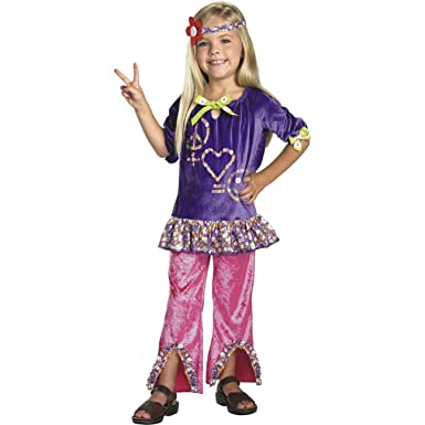 Amazon.com  Kids Hippie Girl Costume  Clothing 035363647605