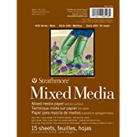 """Strathmore Mixed Media Vellum Paper Pad 6""""""""X8""""""""-15 Sheets"""