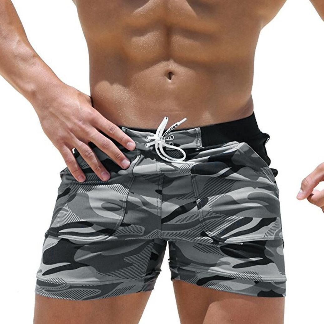 Men's Shorts, QHJ Men's Swimwear Running Surfing Sports Beach Camouflage Light and Breathable Shorts QHJ Men' s Swimwear Running Surfing Sports Beach Camouflage Light and Breathable Shorts