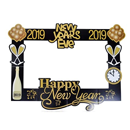 Amazoncom Happy New Year Paper Photo Booth Props 2019 Picture