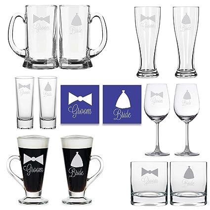 Buy Yaya Cafe Wedding Gifts For Couple Engraved Bride And Groom Bar