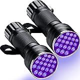 Wangdd22 21 LEDs Black Light Flashlight,Mini UV Flashlight,395nm Ultraviolet Blacklight Detector for Dog Urine, Pet Stains,Au