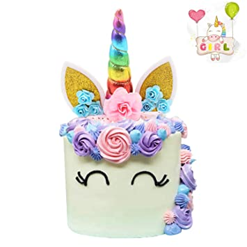 Cake Decorations Unicorn 2nd Birthday Topper Magical Decoration Theme Party Supplies Yaaaaasss
